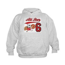 AllStar Sports 6th Birthday Hoodie
