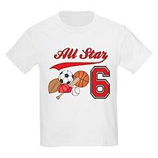 AllStar Sports 6th Birthday T-Shirt