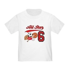 AllStar Sports 6th Birthday T
