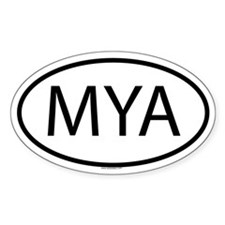 MYA Oval Decal