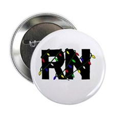 "Nurse Christmas Gifts 2.25"" Button (10 pack)"