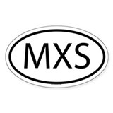 MXS Oval Decal