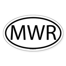 MWR Oval Decal