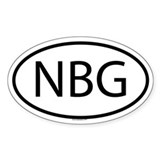 NBG Oval Decal