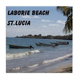 Laborie Beach in St. Lucia Tile Coaster