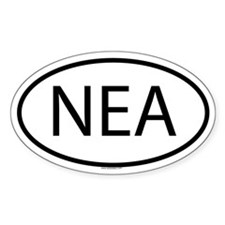 NEA Oval Decal