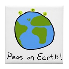 Peas on Earth! Tile Coaster