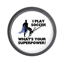 Soccer Superhero Wall Clock