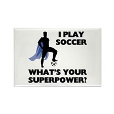 Soccer Superhero Rectangle Magnet