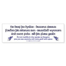 Beowulf's Dragons Bumper Bumper Sticker