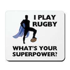 Rugby Superhero Mousepad