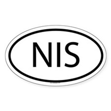 NIS Oval Decal