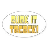 Suck it Trebek! Oval Decal