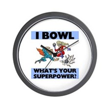Bowling Superheroes Wall Clock