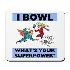 Bowling Superheroes Mousepad