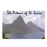 Pitons of St. Lucia Postcards (Package of 8)
