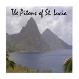 Pitons of St. Lucia Tile Coaster