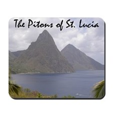 Pitons of St. Lucia Mousepad