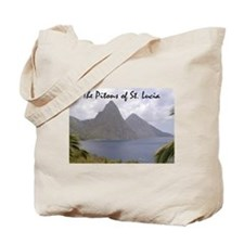 Pitons of St. Lucia Tote Bag
