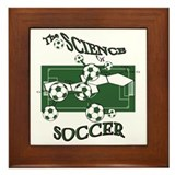 Science of Soccer Framed Tile