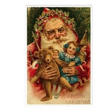 Christmas Santa Claus ~ 8pk Postcards
