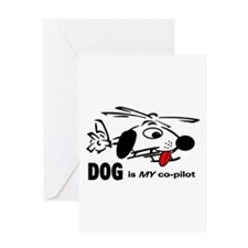 DOG is my co-pilot Greeting Card