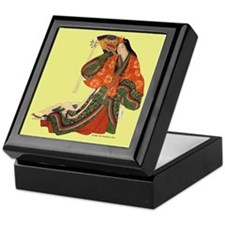 Medieval Japanese Court Lady Keepsake Box
