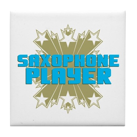 Star Saxophone Tile Coaster