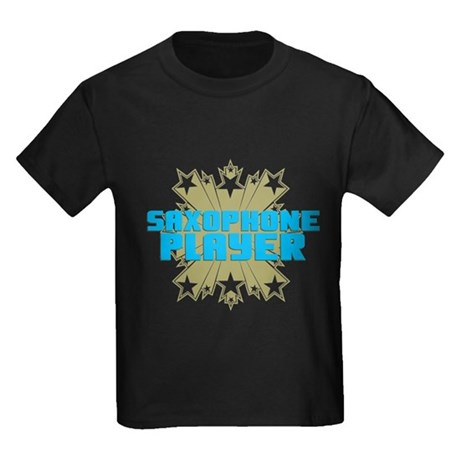 Star Saxophone Kids Dark T-Shirt