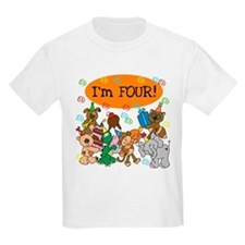 Party Animals 4th Birthday T-Shirt