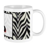 Zebra Monogram L Coffee Mug