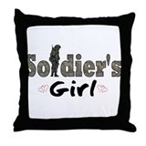 Soldier's Girl Throw Pillow