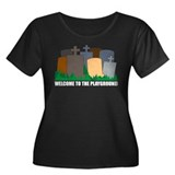 Welcome To Playground Women's Plus Size Scoop Neck