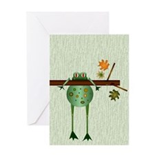 Of Trees and Frogs Greeting Card