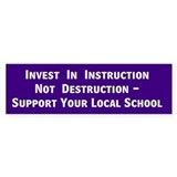 Local School Bumper Bumper Sticker