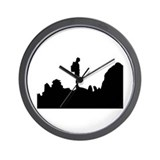 Unique Rock climbing Wall Clock