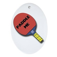 Paddle Me Ping Pong Oval Ornament