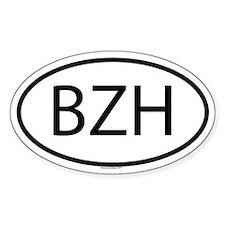 BZH Oval Bumper Stickers