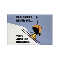 Old Skiers Never Die Rectangle Magnet