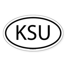 KSU Oval Decal