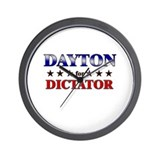 DAYTON for dictator Wall Clock