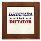 DAYANARA for dictator Framed Tile