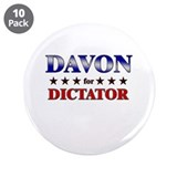 "DAVON for dictator 3.5"" Button (10 pack)"