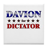 DAVION for dictator Tile Coaster