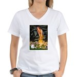 Fairies / Papillon (f) Women's V-Neck T-Shirt