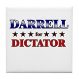 DARRELL for dictator Tile Coaster