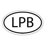 LPB Oval Decal