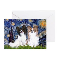 Starry / 2 Papillons Greeting Cards (Pk of 10)
