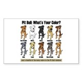 Pit Bull: What's Your Color? Rectangle Decal