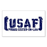 Proud USAF SisNlaw- Tatterd Style Decal